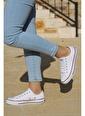 Woggo Woggo 2250 Günlük Keten Kadın Spor Ayakkabı Beyaz